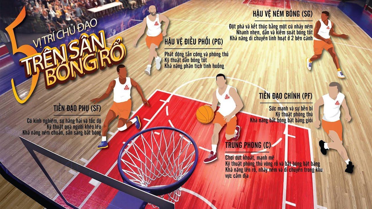5 vị trí cơ bản trong bóng rổ