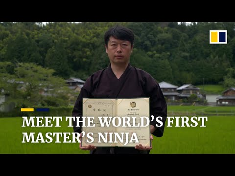 Meet the Japanese man who holds the world's first master's degree in ninja studies
