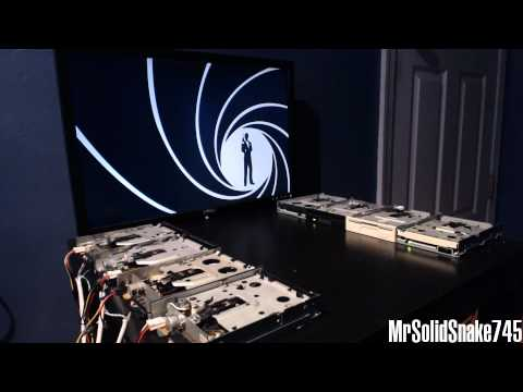 James Bond Theme on eight floppy drives