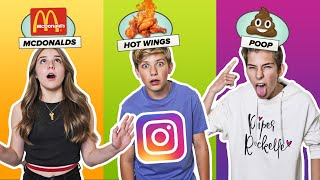 INSTAGRAM FILTERS Decide What I Eat for 24 HOURS **DOUBLE DATE CHALLENGE** 🍔🥰 | Walker Bryant