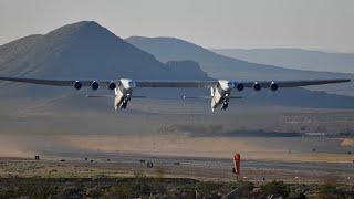 Stratolaunch: Größtes Flugzeug der Welt dreht erste Runde