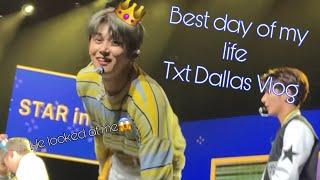 TXT Dallas showcase: Vlog (yeonjun kept looking at me😱👀)