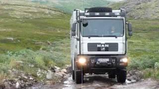 MAN 4x4 Camper offroad Russia