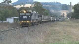 Big power at both ends : 7 locomotive grain train : Australian trains and railroads