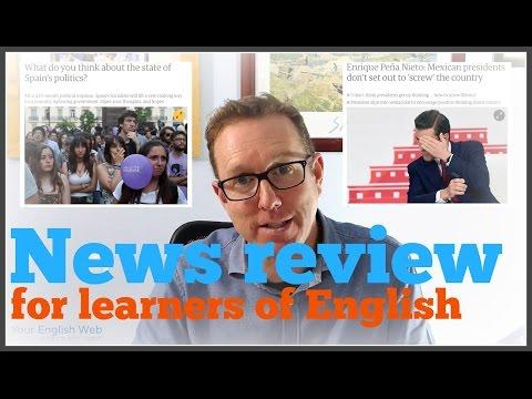 News English lesson - Spain breaks political deadlock, Peña Nieto speaks to the people