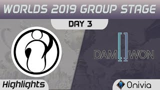 IG vs DWG Highlights Worlds 2019 Main Event Group Stage Invictus Gaming vs Damwon Gaming by Onivia