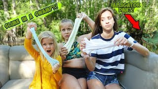 MAKING SLIME ON A BOAT!! (Alligator infested waters)