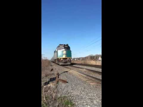 Viarail fast passing in Montreal