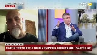 """Denunciaron Al Actor Juan Acosta Por Promover La Marcha Contra La """"infectadura"""" En Hoy Nos Toca"""