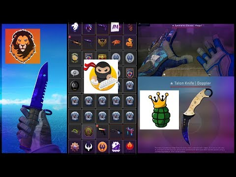 REVIEWING MORE YouTuber's CSGO INVENTORIES! #2 (Sparkles, NadeKing And Nick Bunyun)