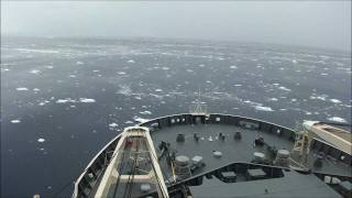 「しらせ」海氷縁進入 20101214