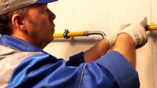 видео установка газового счетчика