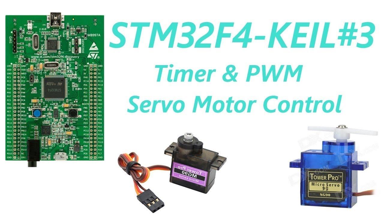 Stm32f4 Keil Arm3 Timer Pwm Servo Motor Control Youtube Pulse Generator