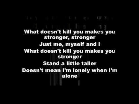 Kelly Clarkson What Doesn T Kill You Lyrics Stronger Flv Youtube