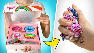 Open, Decorate And Smash Poopsie Slime Donuts HUGE Set!
