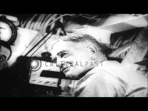United States B-29s bomb Japan; Admiral Halsey and fleet near Japan; dropping of ...HD Stock Footage