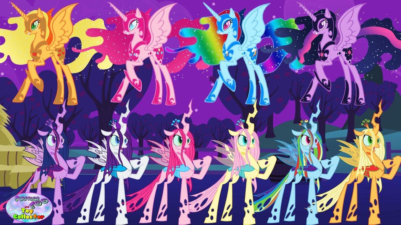 Fluttershy Wallpaper Fall My Little Pony Transforms Mane 6 Into Chrysalis Nightmare