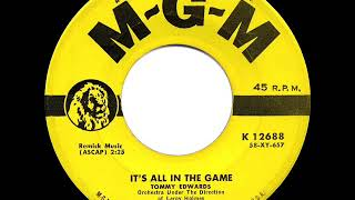 1958 HITS ARCHIVE: It's All In The Game - Tommy Edwards (a #1 record)