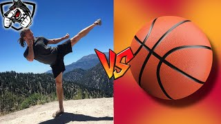 Muay Thai vs Basketball: Hopping Side Kick