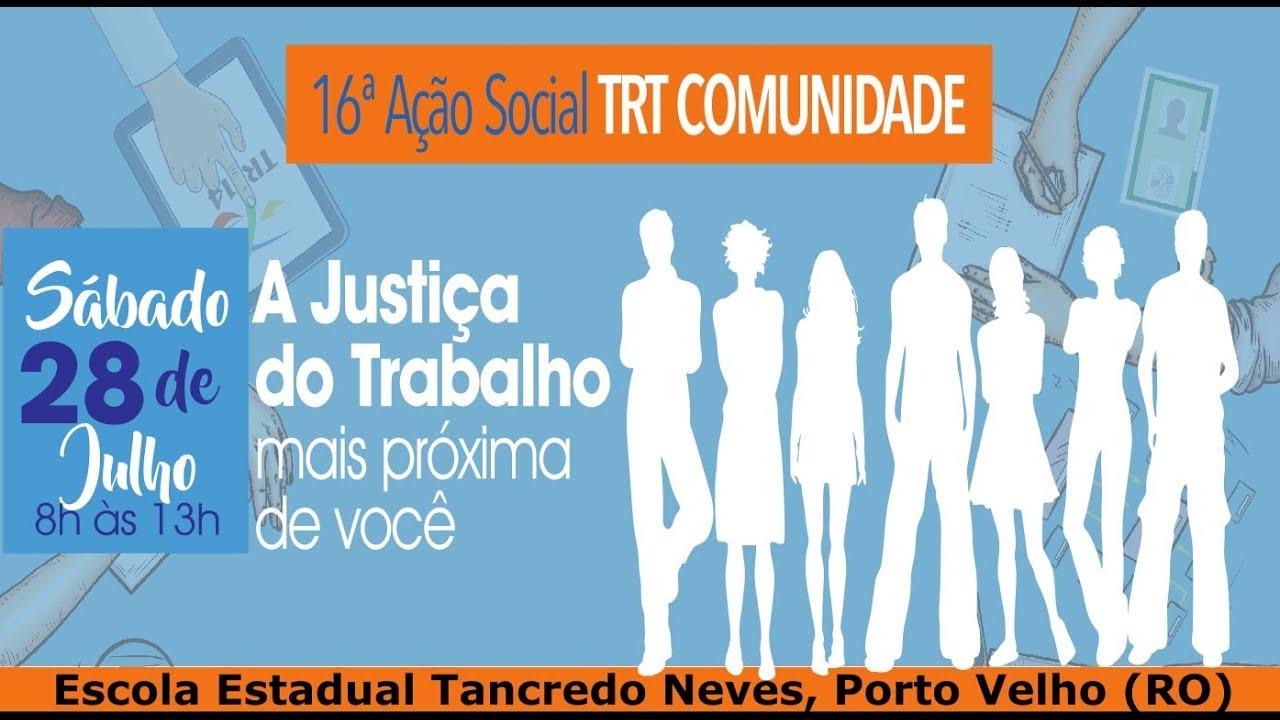 Resultado de imagem para 16ª edição do projeto TRT Comunidade