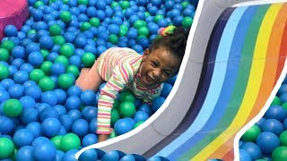 Fun Indoor Playground For Kids Children Family Play Time With GIANT SLIDES!