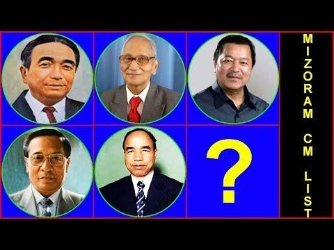 List of Chief Ministers of Mizoram | Mizoram Chief Minister