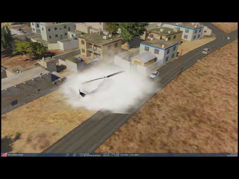 DCS 2.5.2   A Huey Buzzing over a village in Persian Gulf Map