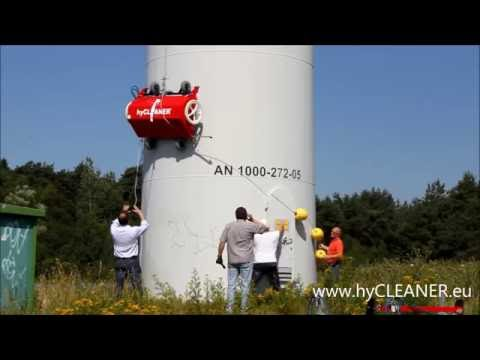 Efficient wind turbine cleaning with hyCLEANER® black wind-power