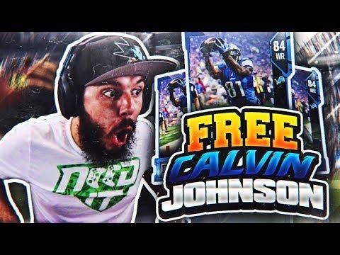 FREE CALVIN JOHNSON!! MADDEN 18 PACK OPENING