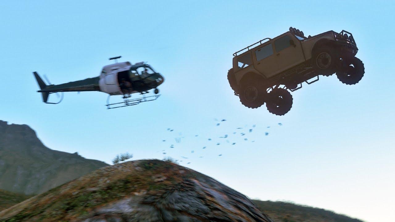 Attack on Fort Zankudo - GTA 5 Action film