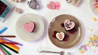 How To Make Conversation Heart Cakes For Valentine's Day