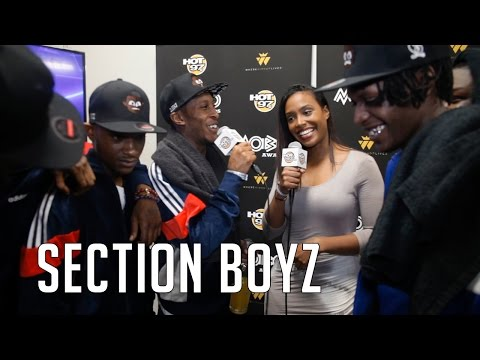 South London Rap Group Section Boyz Backstage After Winning 'Best Newcomer' at 2015 Mobo Awards