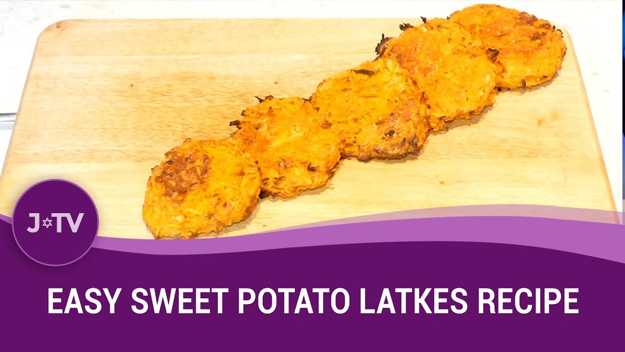 Easy sweet potato latkes recipe jewish food j tv youtube forumfinder