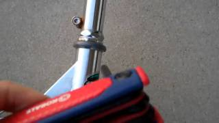 How to fix a scooter 39 s wheel if it is turning by itself