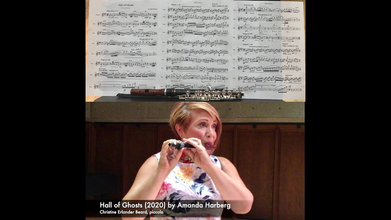 Amanda Harberg: Hall of Ghosts (2020); Christine Beard, piccolo