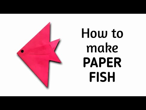 How To Make An Origami Paper Fish #1 | Origami / Paper Folding Craft, Videos And Tutorials.