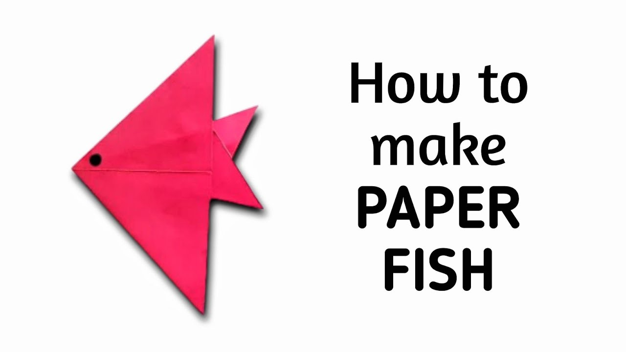 How to make an origami paper fish - 1 | Origami / Paper Folding ...