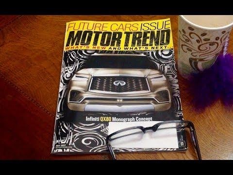 Gently Flipping thru Motor Trend Magazine ASMR Soft Spoken Comments, Gentle Gum Chewing