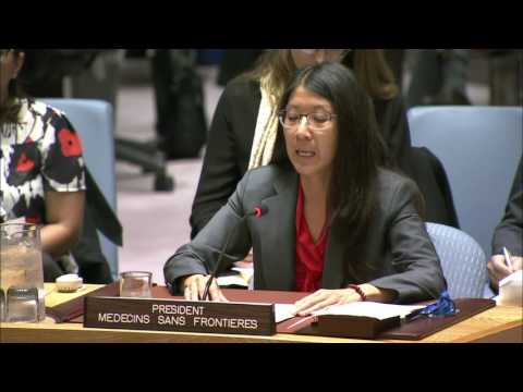 MSF President addresses United Nations Security Council