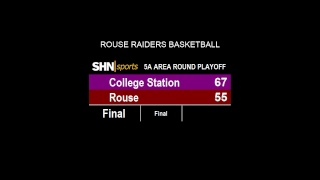 Boys High School Basketball - College Station Cougars vs. Rouse Raiders - 2/22/2019