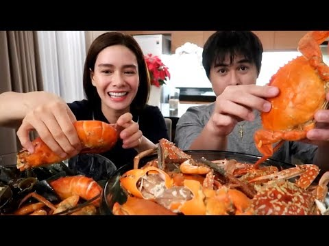 SEAFOOD MUKBANG WITH MJ CAYABYAB ♥️   Erich Gonzales