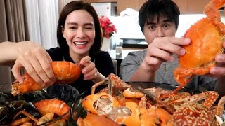 Seafood Mukbang with MJ Cayabyab ♥️ | Erich Gonzales