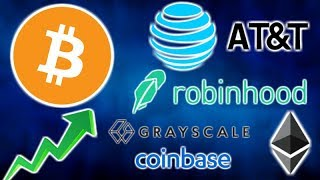 AT&T Accepts BITCOIN & CRYPTO - Robinhood NY - Grayscale Ether Trust - Rep Eric Swendell Crypto