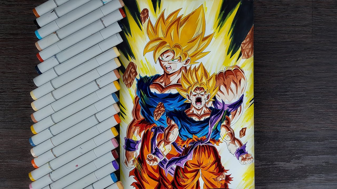 Drawing Goku The Legendary Super Saiyan