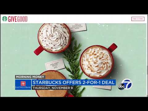 Starbucks offering 'buy one get one free' holiday beverage for five days
