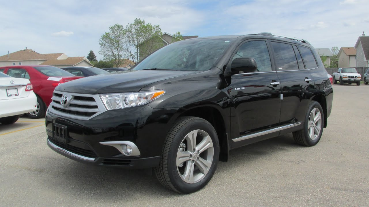 2013 Toyota Highlander For Sale >> 2013 Toyota Highlander Limited 4WD Start up, Walkaround and Vehicle Tour - YouTube