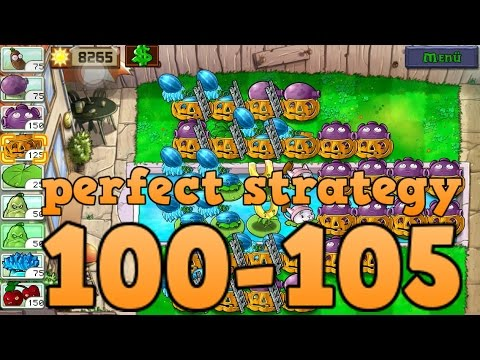 Perfect Strategy Cobless Last Stand Endless Flag 100-105 -Plants vs Zombies