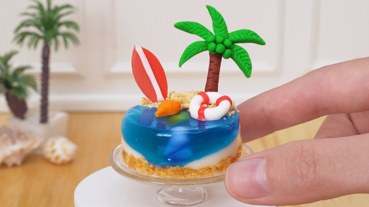 Awesome Miniature Cake Decorating For Your Vacation | DIY Miniature Cake Recipe For Summer