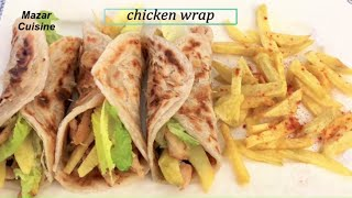 Tasty Chicken Wrap With Frozen Paratha Recipe,Chicken Paratha Roll Recipe