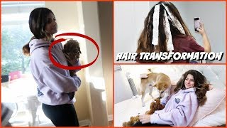 KEILLY'S  HAIR TRANSFORMATION /MEETING SISTER FOREVER'S  NEW PUPPY !! .VLOG#345